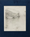 Autographs:Artists, [American Art]. William S. Lambert(?). Original Pencil Drawing of a Nautical Scene. Measures approximately 6 x 7.25 inches, ...