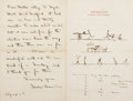 Miscellaneous:Ephemera, Gardner Browne Perry Autograph Letter Signed....