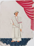 Miscellaneous:Ephemera, [Illustrated on Mica]. Indian Original Color Painting on Thin Mica....