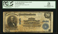 National Bank Notes:West Virginia, West Union, WV - $20 1902 Plain Back Fr. 650 The First NB Ch. #6424. ...