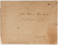 """Autographs:Authors, [Early Nineteenth-Century Manuscript Americana]. [John Reeve]. Manuscript """"Piece Book."""" May, 1803. 22 pages, plus part of a ..."""