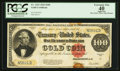 Large Size:Gold Certificates, Fr. 1215 $100 1922 Gold Certificate PCGS Apparent Extremely Fine 40.. ...
