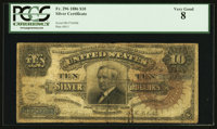Fr. 296 $10 1886 Silver Certificate PCGS Very Good 08