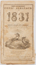 Books:Pamphlets & Tracts, [Almanac]. The American Comic Almanack, 1831. Boston: Charles Ellms, [1831]. Printed wrappers, string bound. Heavy t...