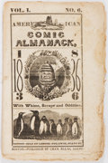 Books:Pamphlets & Tracts, [Almanac]. The American Comic Almanack, 1836. Boston: Charles Ellms, [1836]. Printed wrappers, string bound. Heavy t...