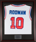 "Basketball Collectibles:Uniforms, Dennis Rodman ""Bad Boys"" Signed Jersey...."