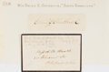 Autographs:Authors, Emily E. Chubbuck Judson (1817-1854). Pen name was Fanny Forrester. Clipped signature, mounted. With original envelope. Very...
