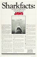 """Movie Posters:Horror, Jaws (Universal, 1975). One Sheet (27"""" X 41"""") Sharkfacts Style.. ..."""