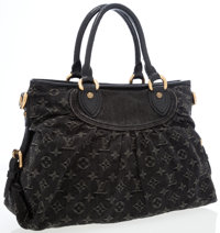 Louis Vuitton Black Monogram Denim Neo Cabby MM Bag