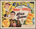 "Movie Posters:Comedy, Africa Screams (United Artists, 1949). Half Sheet (22"" X 28"") StyleA. Comedy.. ..."