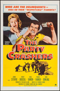 "Movie Posters:Exploitation, The Party Crashers (Paramount, 1958). One Sheet (27"" X 41"") FlatFolded. Exploitation.. ..."