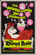 "Movie Posters:Sexploitation, The Ruined Bruin (Rossmore, 1961). Day-Glo Silk Screen One Sheet(28"" X 42""). Sexploitation.. ..."