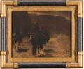 "American Indian Art:Photographs, EDWARD S. CURTIS, AMERICAN (1868 - 1952). ""The Vanishing Race,""Orotone..."