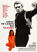 "Movie Posters:Crime, Bullitt (Warner Brothers, 1968). German A0 (33.5"" X 46.5"").. ..."