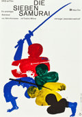 "Movie Posters:Foreign, The Seven Samurai (Atlas Film, R-1962). German A1 (23"" X 33"").. ..."