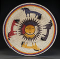 American Indian Art:Baskets, A NAVAJO POLYCHROME COILED TRAY . Sally Black. c. 1990...