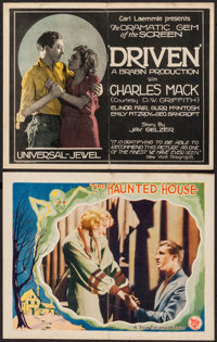 """The Haunted House & Other Lot (First National, 1928). Lobby Card & Title Lobby Card (11"""" X 14""""..."""