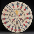 American Indian Art:Baskets, A NAVAJO POLYCHROME COILED TRAY . Agnes Black Gray. c. 1995...