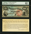 Large Size:Legal Tender Notes, Fr. 96 $10 1869 Legal Tender PMG Uncirculated 62.. ...