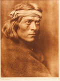"American Indian Art:Photographs, EDWARD S. CURTIS, AMERICAN (1868 - 1952). ""A Zuni Governor,""Photogravure ..."