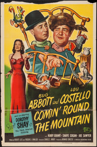 """Comin' Round the Mountain (Universal International, 1951). One Sheet (27"""" X 41""""). Comedy"""
