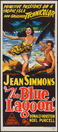 "Movie Posters:Adventure, The Blue Lagoon (Universal International, 1949). Australian Daybill(13"" X 30""). Adventure.. ..."