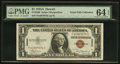 Small Size:World War II Emergency Notes, Fr. 2300 $1 1935A Hawaii Silver Certificate F-C Block PMG Choice Uncirculated 64 EPQ.. ...