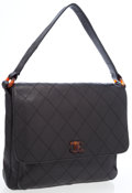Luxury Accessories:Bags, Chanel Black Caviar Leather Shoulder Bag with Tortoise ShellHardware. ...