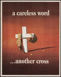 """Movie Posters:War, World War II Propaganda (U.S. Government Printing Office, 1943).Poster (22"""" X 28"""") OWI Poster No. 23 """"A Careless Word... An..."""