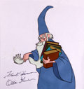 Animation Art:Production Cel, The Sword and the Stone Merlin Production Cel Signed by Ollie Johnston and Frank Thomas (Walt Disney, 1963)....