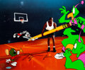 Animation Art:Model Sheet, The Great Space Erase Looney Tunes and Michael Jordan SignedLimited Edition Cel 288/750 (Warner Brothers, 1995)....