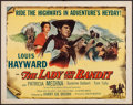 "Movie Posters:Adventure, The Lady and the Bandit (Columbia, 1951). Half Sheet (22"" X 28"").Adventure.. ..."