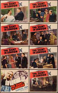 "The Saint in London (RKO, 1939). Lobby Card Set of 8 (11"" X 14""). Mystery. ... (Total: 8 Items)"