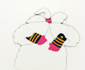 Animation Art:Production Cel, Beatles Yellow Submarine Old Fred Production Cel (UnitedArtists/King Features, 1968)....
