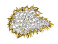 Estate Jewelry:Brooches - Pins, Diamond, Platinum, Gold Convertible Brooch. The three-dimensional brooch features marquise, full and baguette-cut diamonds...