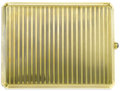 Estate Jewelry:Other , Art Deco Sapphire, Gold Cigarette Case. The 14k yellow goldcigarette case has a wallpaper paneled exterior, completed by ...