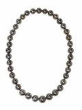 Estate Jewelry:Pearls, South Sea Cultured Pearl Necklace, Schoeffel. The necklace iscomposed of exceptionally well-matched black South Sea cultu...(Total: 3 Pieces)
