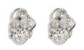 Estate Jewelry:Earrings, Art Deco Diamond, Platinum Earrings. Each earring features oneEuropean-cut diamond weighing approximately 1.20 carats, en...(Total: 2 Pieces)