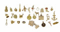 Estate Jewelry:Other , Collection of Multi-Stone, Enamel, Gold Jewelry. The lot contains twenty-one 14k gold charms, complete with enamel, diamon... (Total: 28 Pieces)