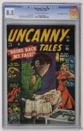 "Golden Age (1938-1955):Horror, Uncanny Tales #8 Davis Crippen (""D"" Copy) pedigree (Atlas, 1953)CGC VF+ 8.5 Off-white to white pages. Art by George ROussos..."
