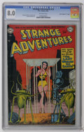"Golden Age (1938-1955):Science Fiction, Strange Adventures #23 Davis Crippen (""D"" Copy) pedigree (DC, 1952)CGC VF 8.0 Off-white pages. Art by Murphy Anderson, Gil ..."