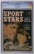 """Golden Age (1938-1955):Miscellaneous, Sport Stars #1 Davis Crippen (""""D"""" Copy) pedigree (Marvel, 1949) CGC VF 8.0 Cream to off-white pages. Knute Rockne story. Pai..."""