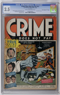 "Crime Does Not Pay #22 (#1) Davis Crippen (""D"" Copy) pedigree (Lev Gleason, 1942) CGC GD+ 2.5 Cream to off-whi..."