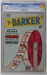 """The Barker #3 Davis Crippen (""""D"""" Copy) pedigree (Quality, 1947) CGC VF- 7.5 Off-white to white pages. Klaus No..."""