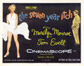 "Movie Posters:Comedy, The Seven Year Itch (20th Century Fox, 1955). Half Sheet (22"" X28""). Marilyn Monroe was known by this time as a major star ..."