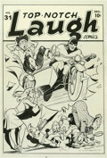 Original Comic Art:Covers, Bob Montana - Top-Notch Laugh Comics #31 Cover Original Art (MLJ,1942). Black Hood, Pokey Oakey, Snoop McGook, Suzie, and t...