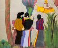 Animation Art:Production Cel, Beatles Yellow Submarine John Lennon, Paul McCartney, GeorgeHarrison, and Ringo Starr Production Cel Set-Up (Unit...