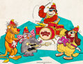Animation Art:Production Drawing, The Banana Splits Adventure Hour Original PresentationIllustration (Hanna-Barbera, 1968)....