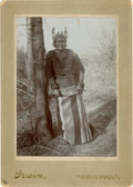 American Indian Art:Photographs, GERONIMO, CABINET CARD BY WILLIAM E. IRWIN, CHICKASHA, I. T....