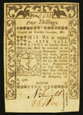 Colonial Notes:Rhode Island, Rhode Island May 1786 5s Choice New.. ...